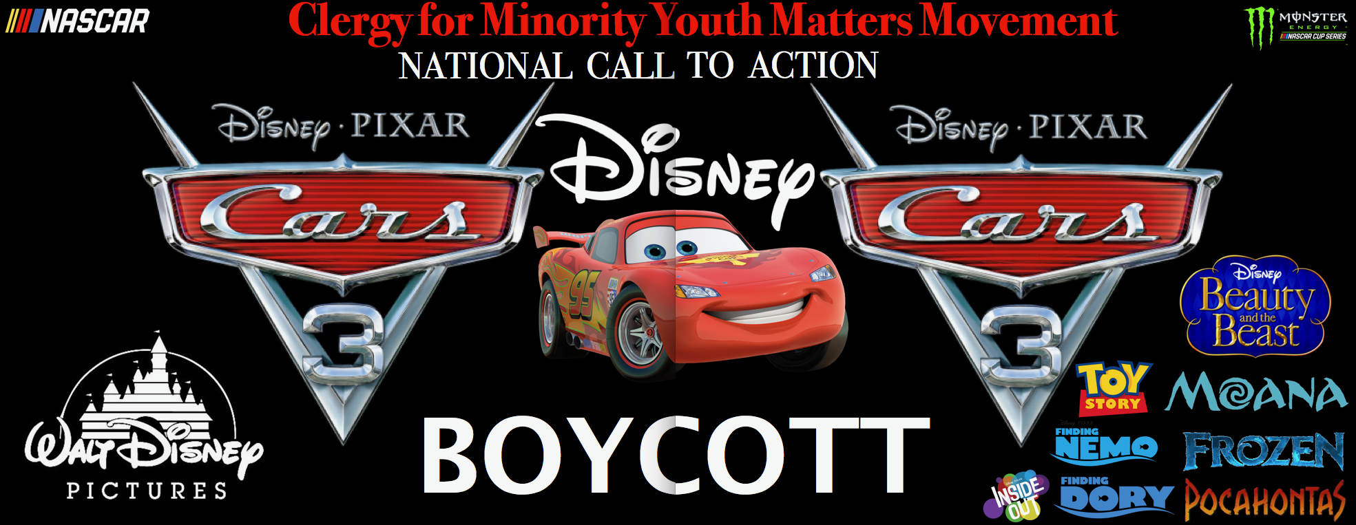 Clergy for Minority Youth Matters Movement Announce Walt Disney World Co. and Pixar Animation Boycott by City Buzz Local in Los Angeles NY