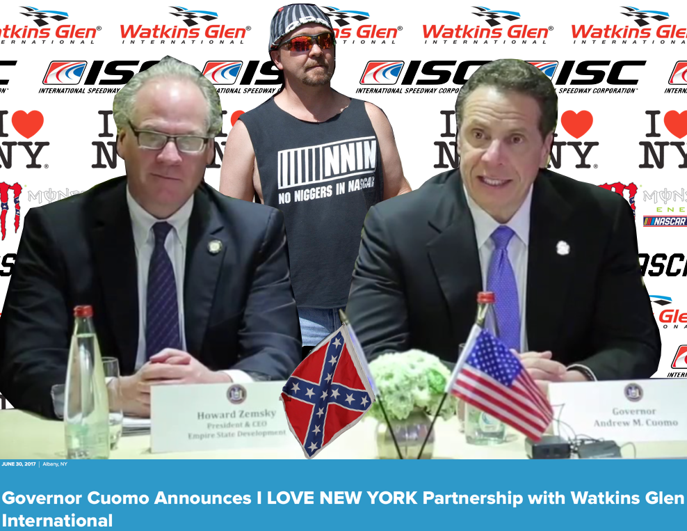 New York City Council Should Ask For Governor Andrew Cuomo's Resignation After Spending $3 Million Of State Tax Payer Money With Systematically Discriminant International Speedway Corporation and NASCAR by City Buzz Motor Sports in Beverly Hills CA